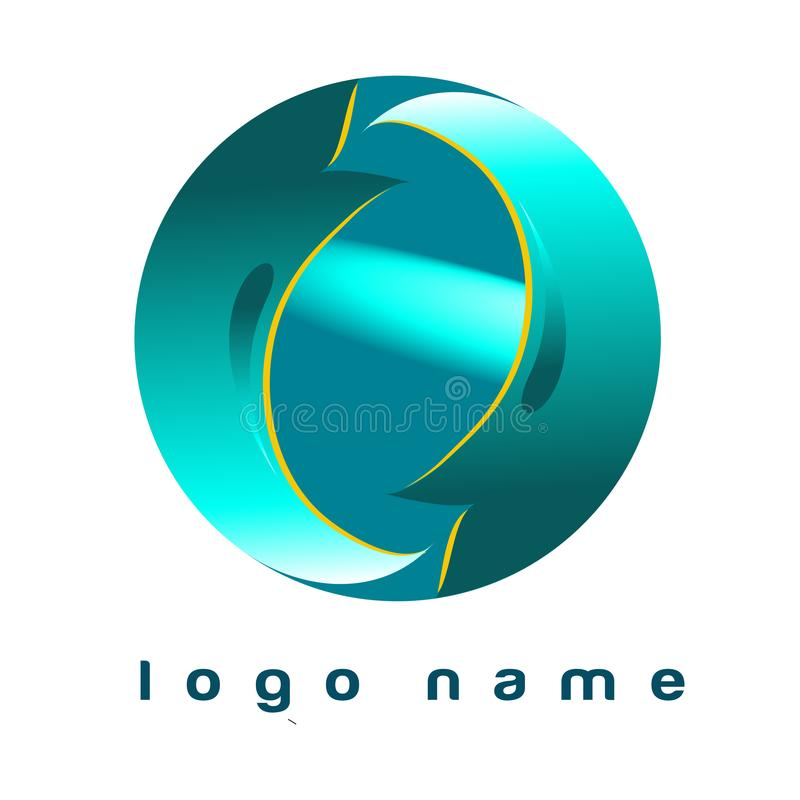 Logo Circle Blue - Template Logo for your company. Template logo Circle Blue. Good for logo your business or your company. File EPS Editable vector illustration