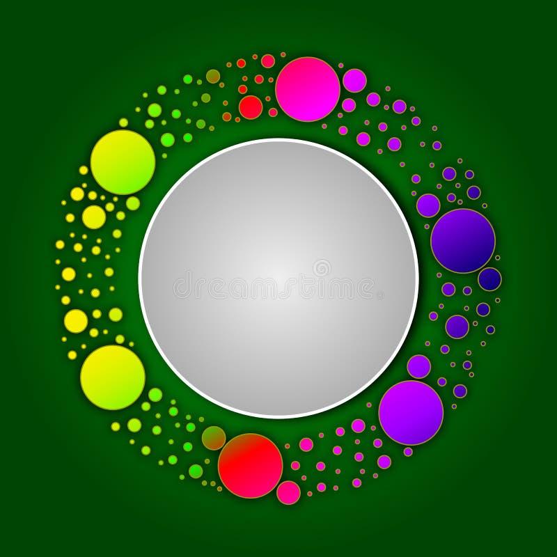 Logo of circles in a circle vector illustration