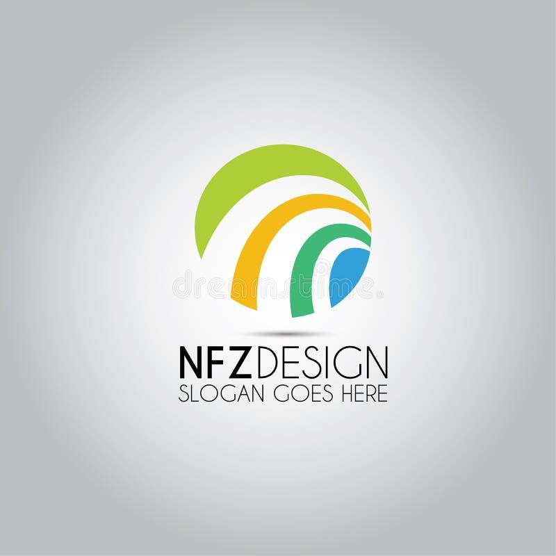 Logo circolare di vettore di progettazione illustrazione di stock