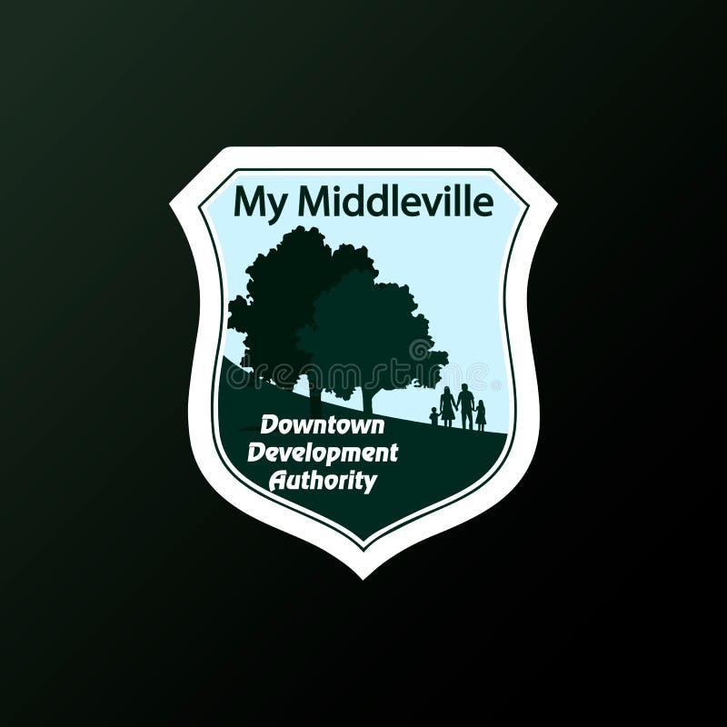 Logo Of The City ilustração stock