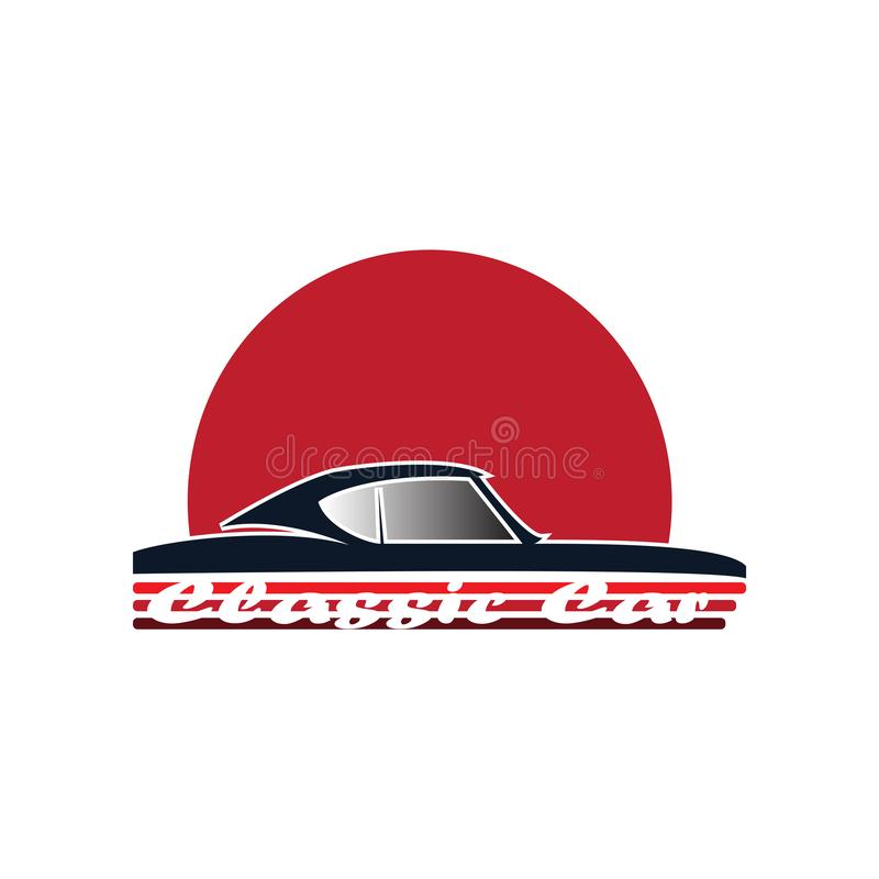 Logo classico dell'automobile per il club classico dell'automobile royalty illustrazione gratis