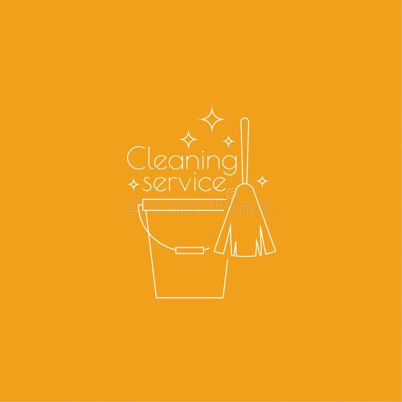 Logo Cleaning Service vector illustratie