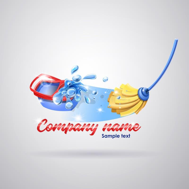 Logo Cleaning Service ilustração stock