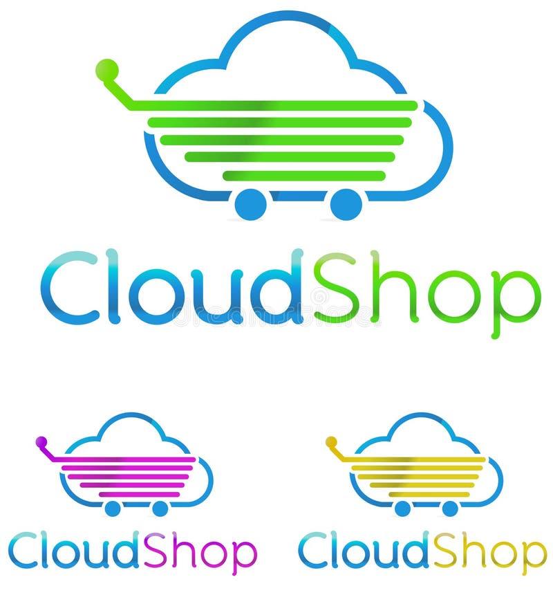 Logo Cloud Shop stock de ilustración
