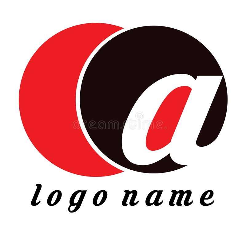 Logo COa - Template Logo for company or store optcal. Template Flat Design. Good for logo your business or your company. Black Red and white. Editable for your royalty free illustration