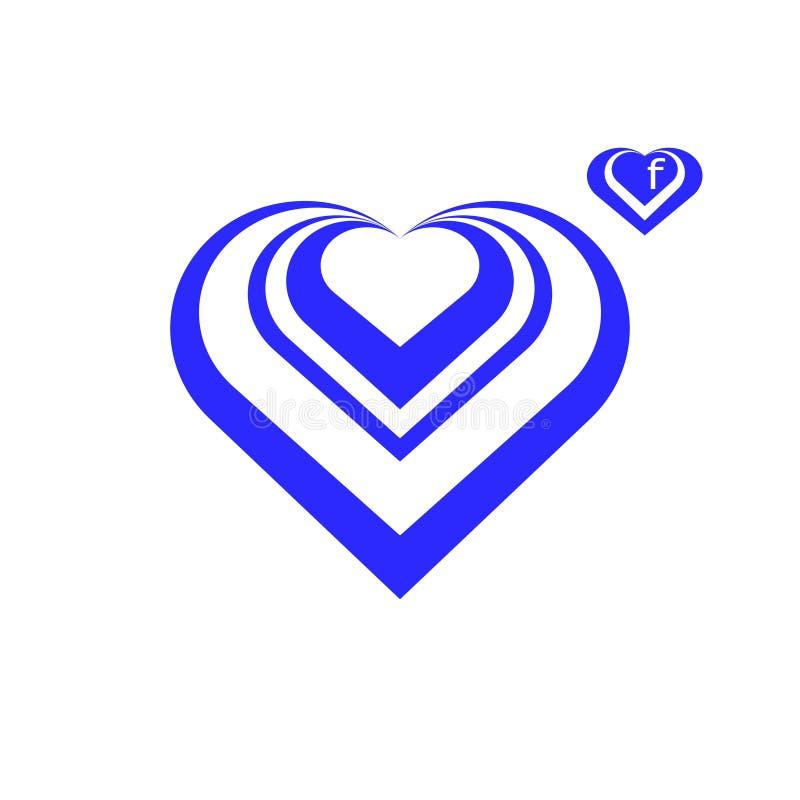 logo Coeur Facebook illustration libre de droits