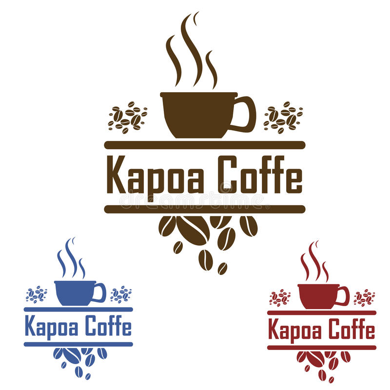 Logo Coffee lizenzfreie abbildung