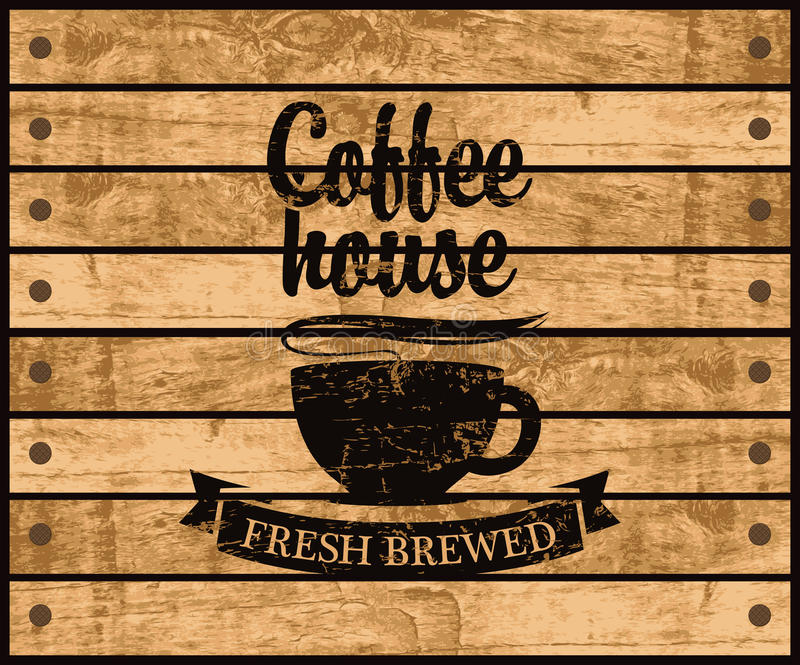 Logo of the coffee house vector illustration