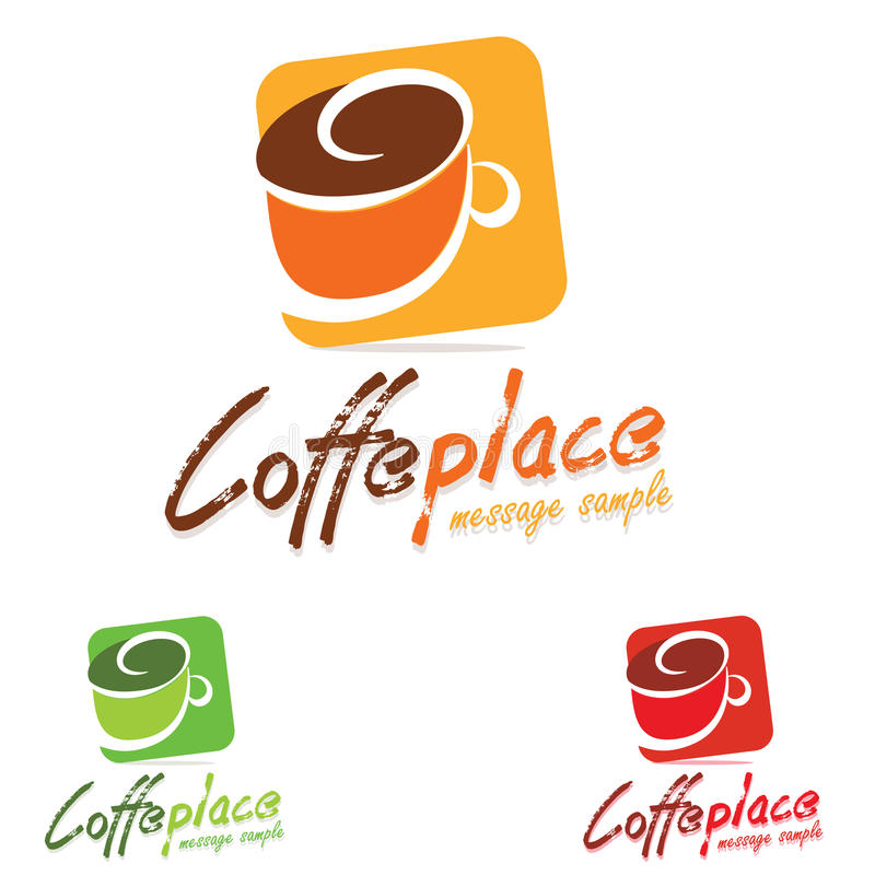 Logo Coffee. Modern logo coffee colorful concept