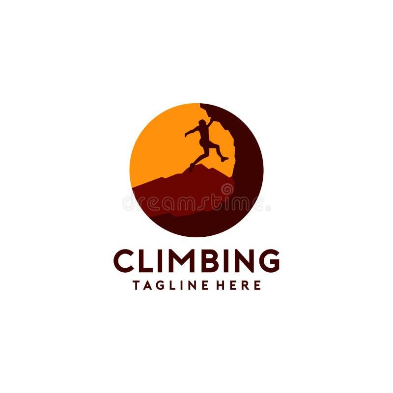 Logo Collection de escalada simples e criativo ilustração royalty free