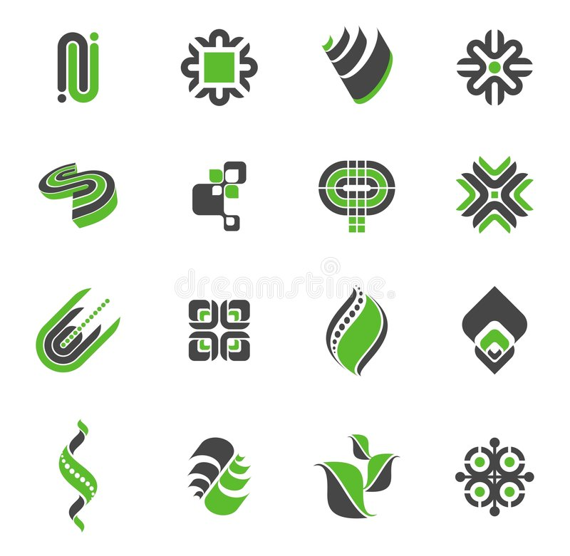 Logo collection - set #2 stock illustration