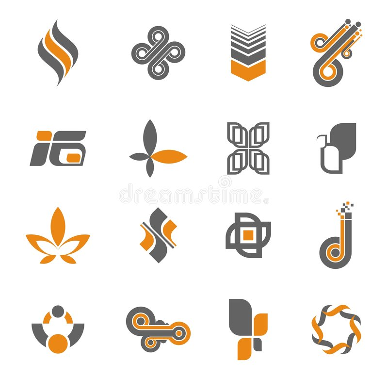 Download Logo collection - set #3 stock vector. Image of elements - 5197649
