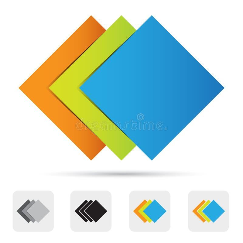 Logo coloré abstrait, élément de conception. illustration libre de droits