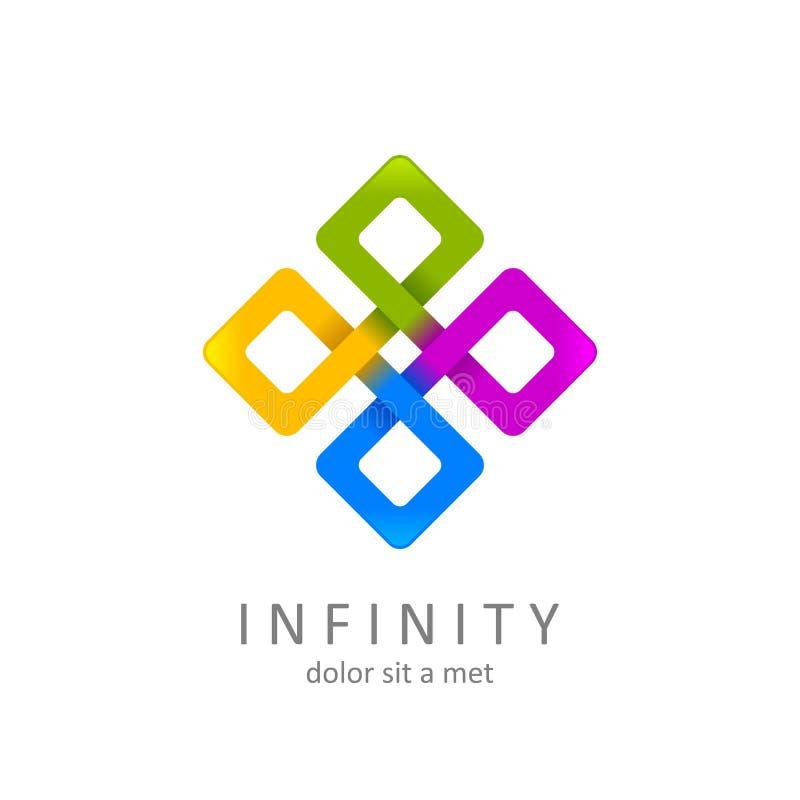 Logo coloré d'infini, symbole sans limites ou icône illustration libre de droits