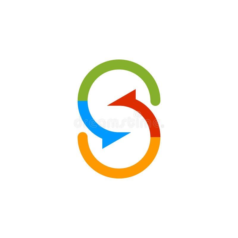 Logo coloré d'initiale de lettre de S illustration de vecteur