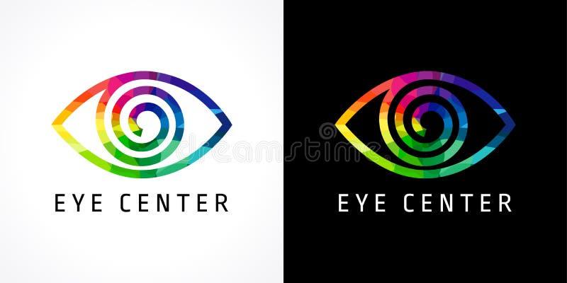 Logo coloré de clinique d'oeil illustration stock