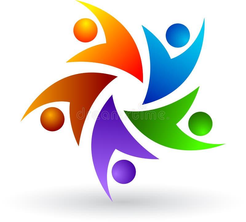 Logo coloré de gens illustration libre de droits
