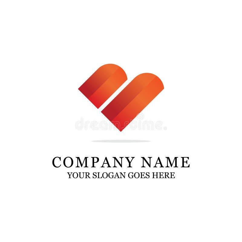 Logo coloré de lettre initiale moderne de B ou d'amour illustration de vecteur
