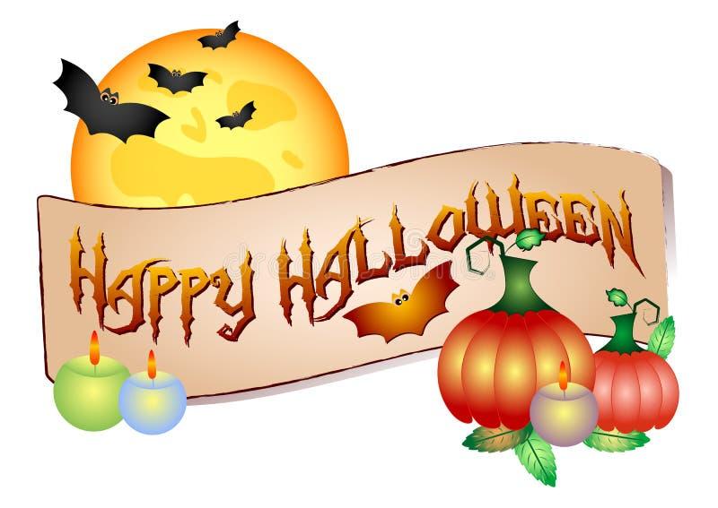 Logo coloré pour des cartes et salutations sur le thème de Halloween illustration libre de droits