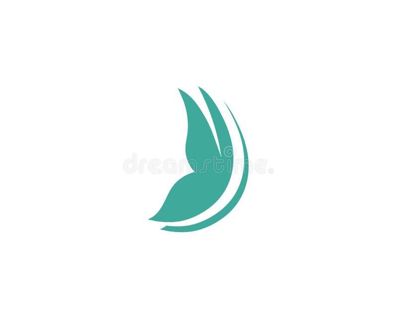 Logo coloré simple conceptuel de papillon illustration stock
