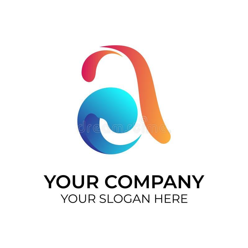 Logo color? abstrait illustration stock