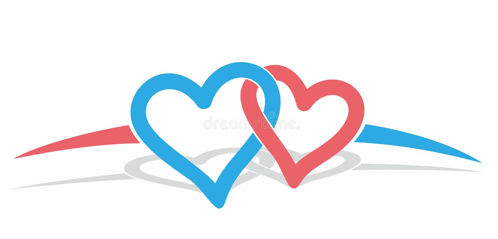 Logo color hearts. Abstract logo of color hearts stock illustration