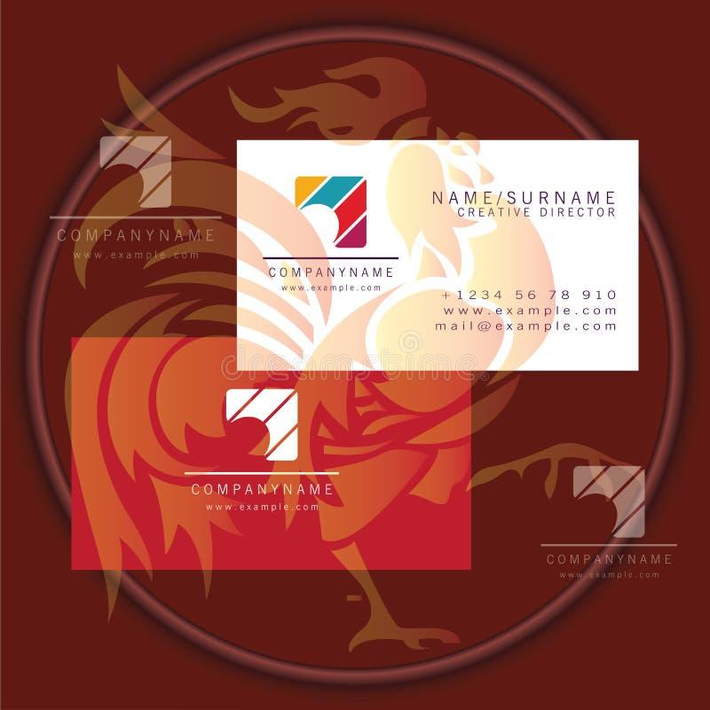 Logo colourful quadrato del biglietto da visita illustrazione vettoriale