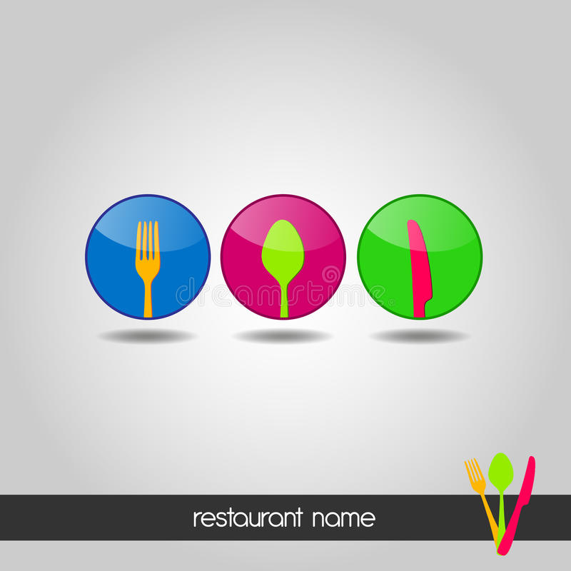 Logo - menu illustrazione vettoriale