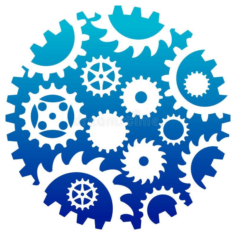 Logo combiné d'industries illustration libre de droits