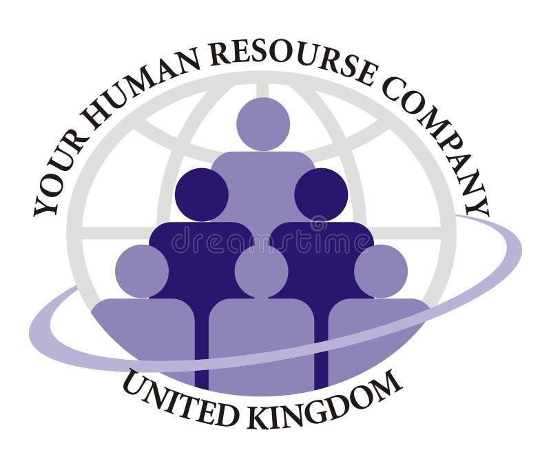 Logo - compagnie de ressource humaine illustration de vecteur