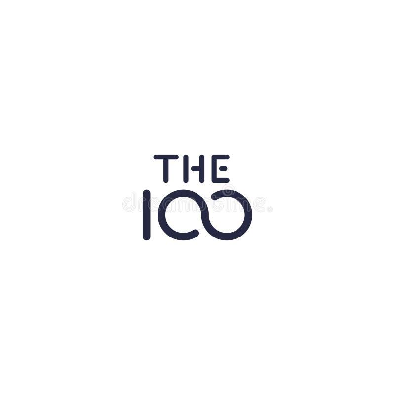 100 company logo vector royalty free illustration