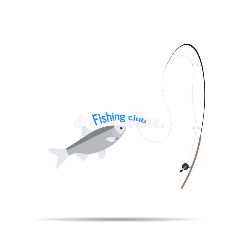 Logo Of The Company Logo Fishing klubbatecken stock illustrationer
