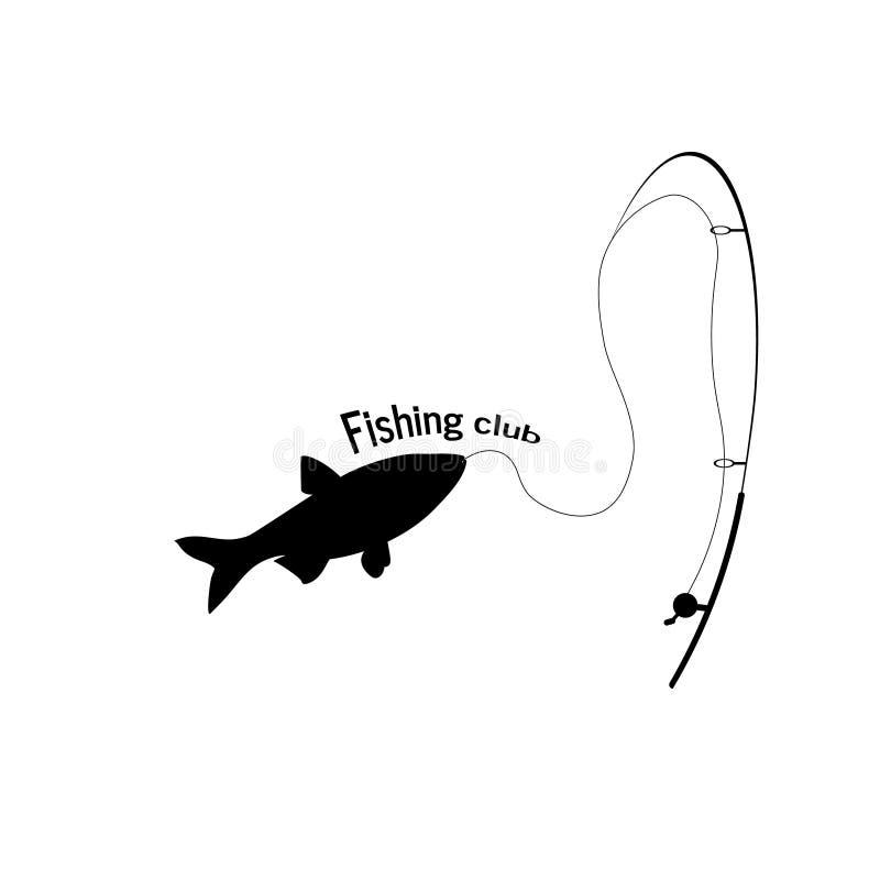 Logo Of The Company Símbolo do sinal do clube de Logo Fishing ilustração do vetor