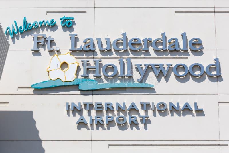 Logo complet de l'aéroport international de Fort Lauderdale image stock