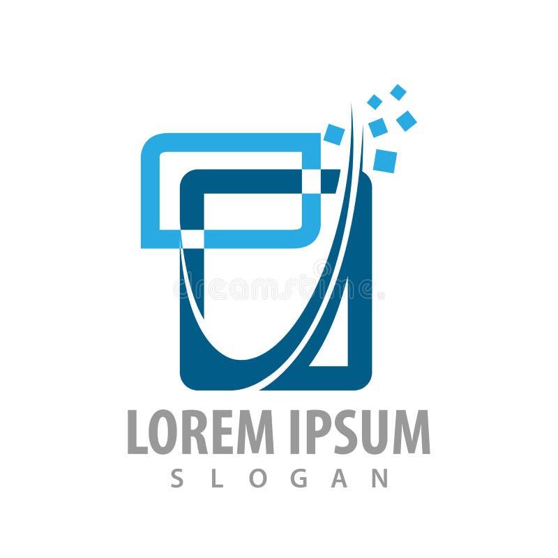 Logo concept design. abstract digital square. Symbol graphic template element vector. Logo concept design. abstract digital square. Symbol graphic template vector illustration