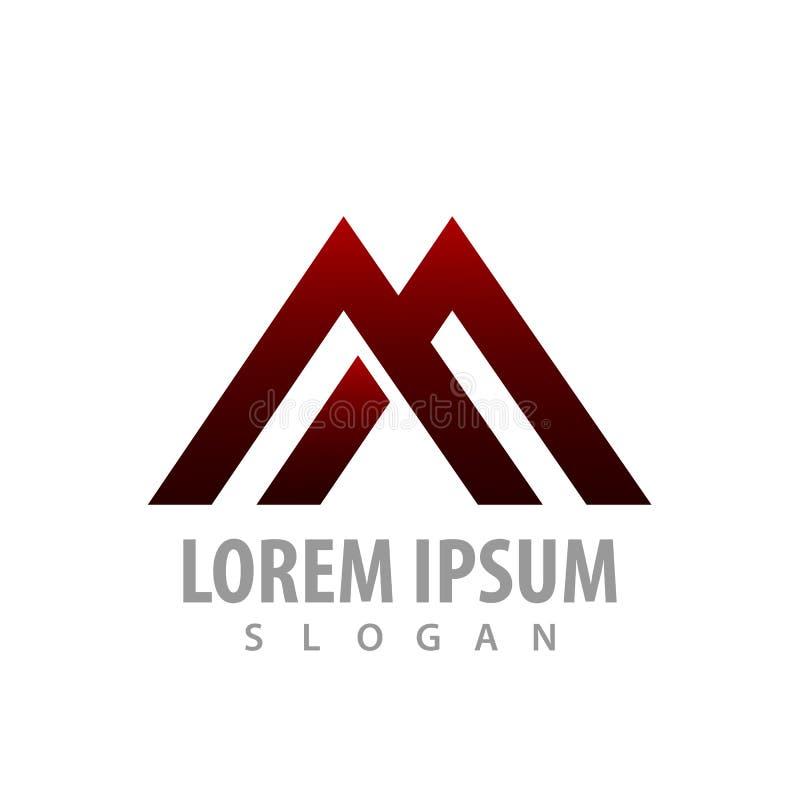 Logo Concept Design Linha geométrica Letra inicial AA ou M Vetor gráfico do elemento do molde do símbolo ilustração do vetor