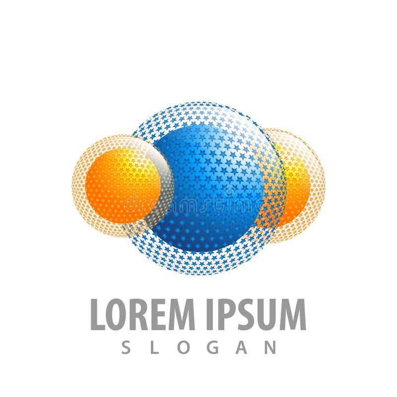 logo concept design. Star sphere Symbol graphic template element vector royalty free illustration