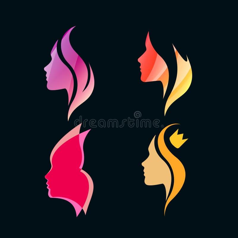 Logo Concept för skönhetsalonger och Spa vektor illustrationer
