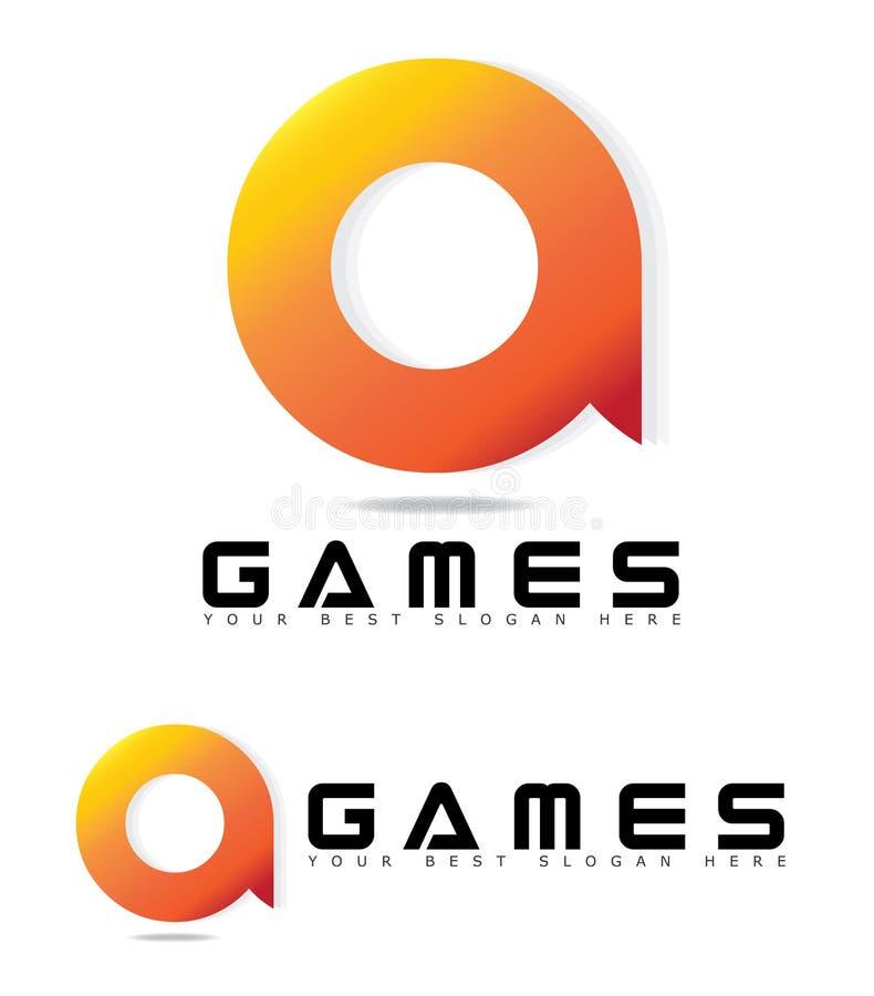 Logo Concept para jogos ou jogo ilustração do vetor