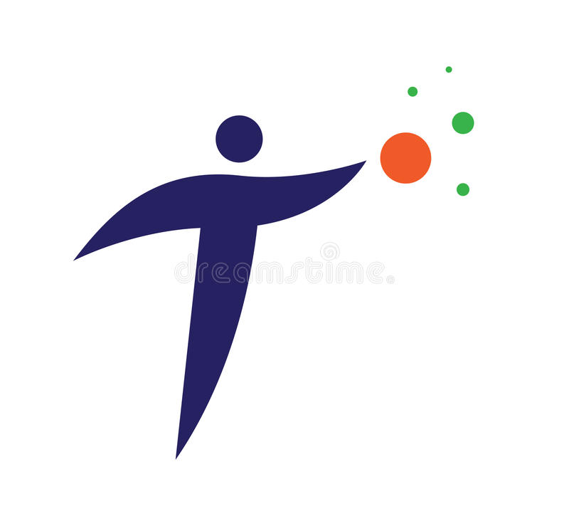 Download Logo Concept with a Person stock illustration. Image of marker - 83706816