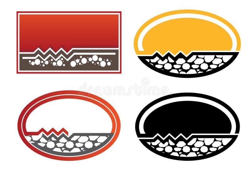 Logo concret de compagnie illustration de vecteur