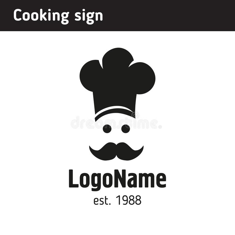 Sign cook in a cap stock illustration