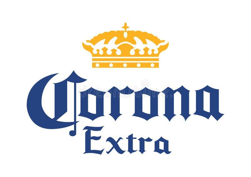 Logo Corona Extra illustration de vecteur