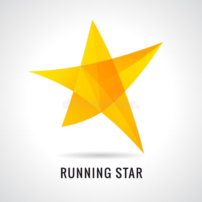 Logo courant d'étoile d'emo illustration de vecteur