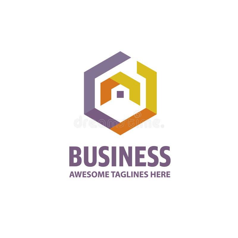 Logo créatif de Real Estate illustration libre de droits