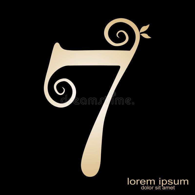 Logo créatif du numéro 7 de conception d'échantillon illustration de vecteur