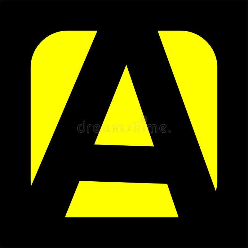 Logo créatif pour la société et affaires, icône d'alphabet unique illustration de vecteur