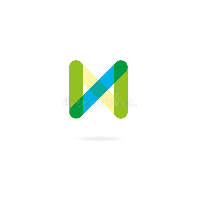 Logo créatif, typographie, lettre N illustration de vecteur