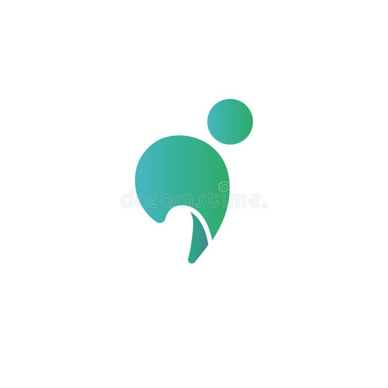 Logo créatif, typographie, minuscule i illustration libre de droits