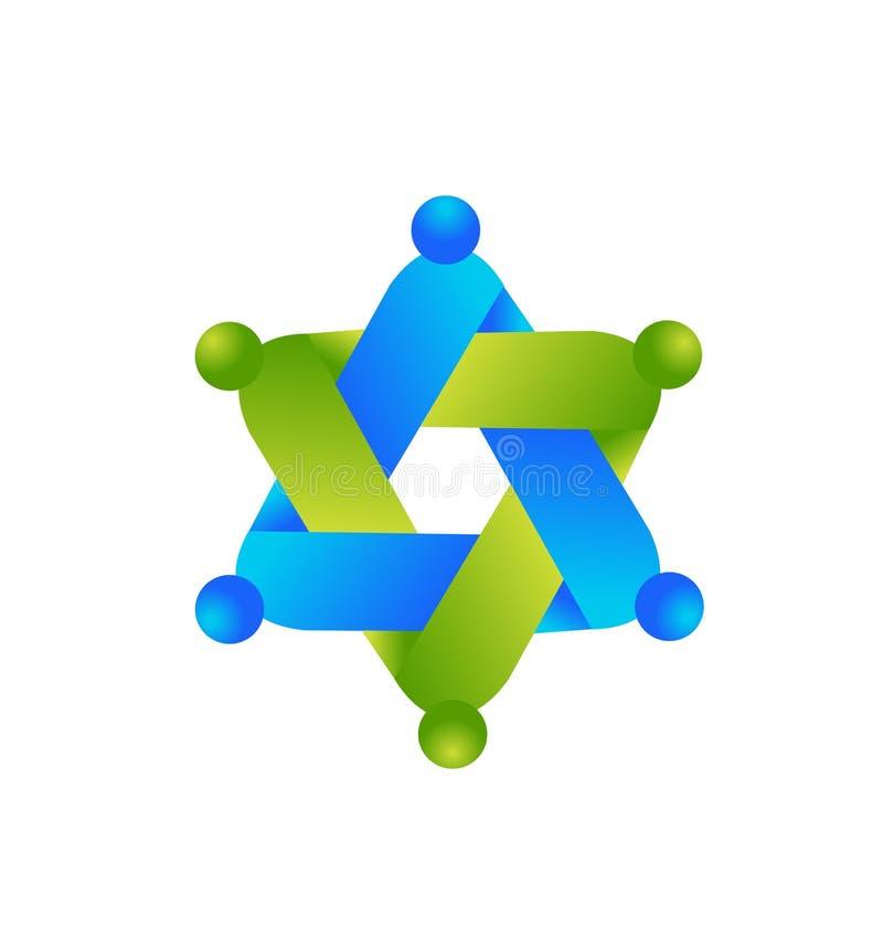 Logo crafting teamwork people symbol icon. Design illustration vector illustration